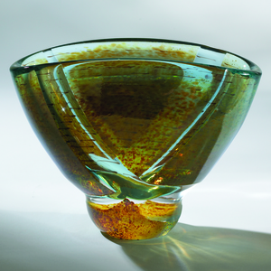 Thumbnail of Global Views - Oval Blue Pond Bowl