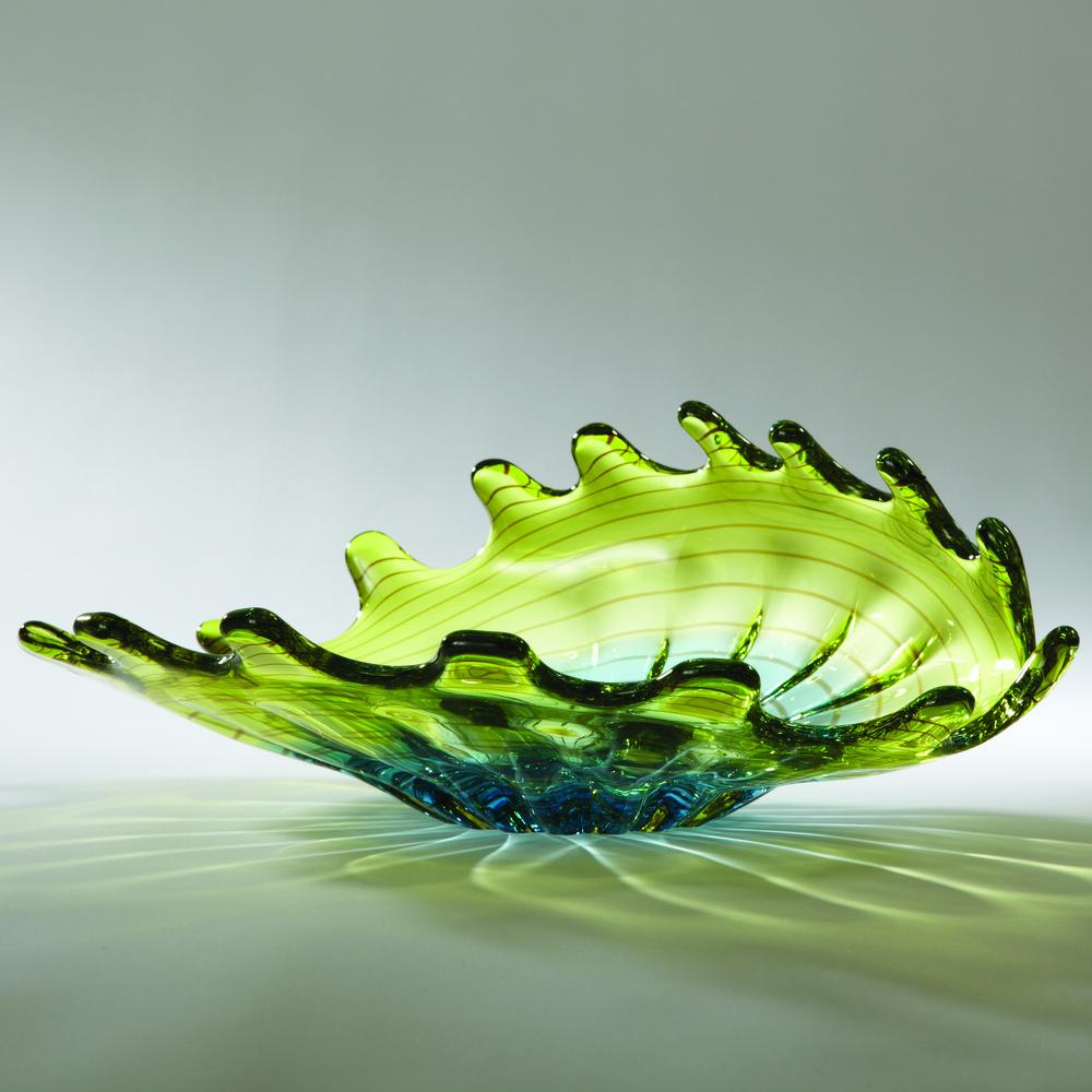 Global Views - Aqua Lime Venus Bowl