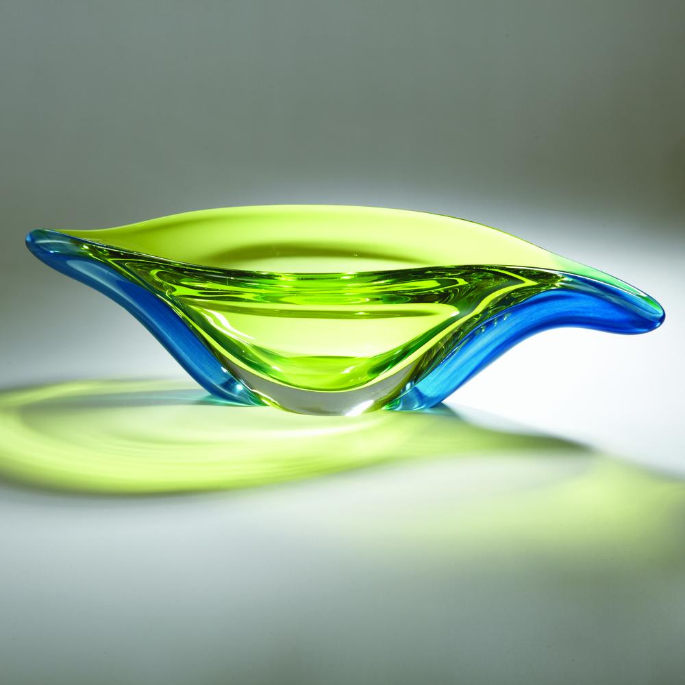 Global Views - Aqua Lime Swish Bowl