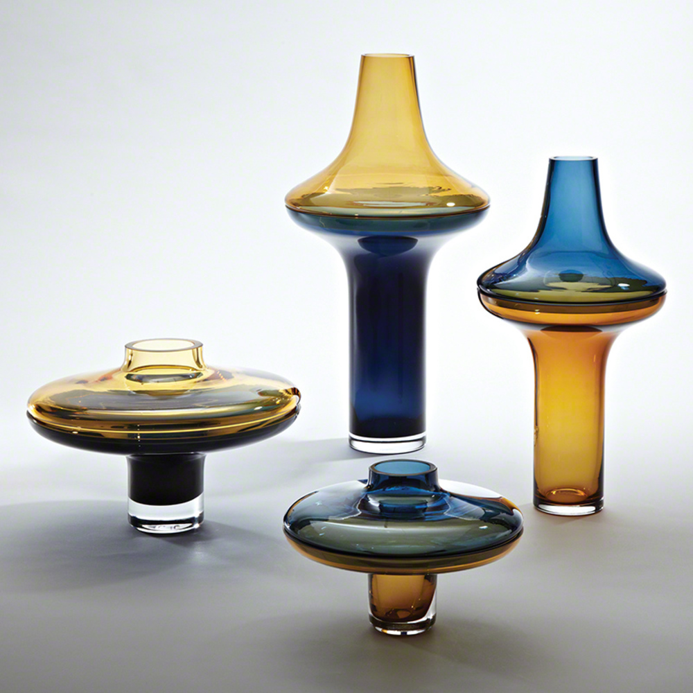 Global Views - Tall Cobalt over Amber Vase