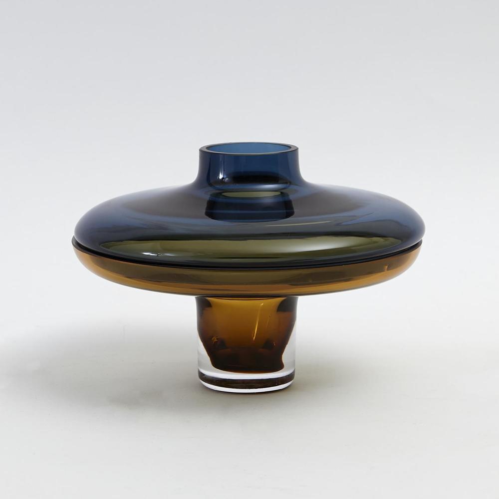 Global Views - Low Cobalt over Amber Vase