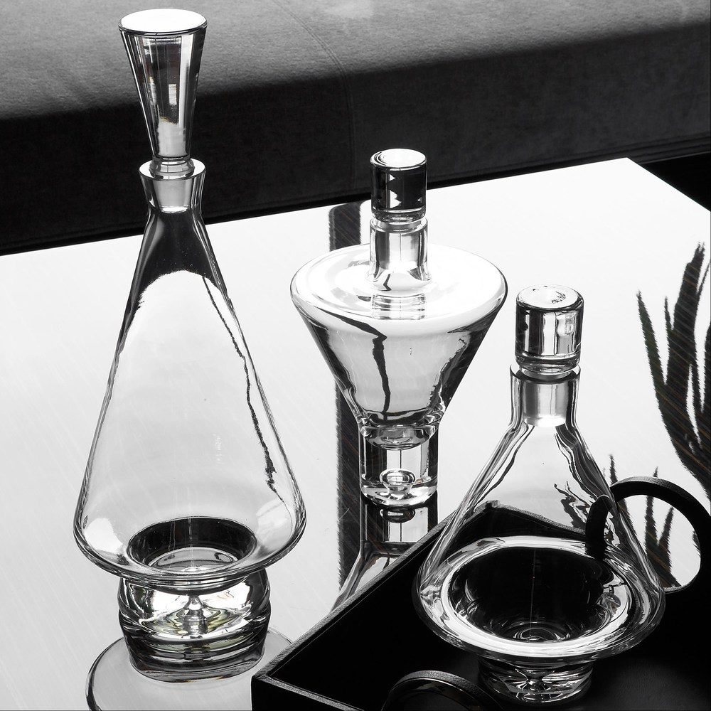 Global Views - Tall Fat Bottom Decanter, Clear