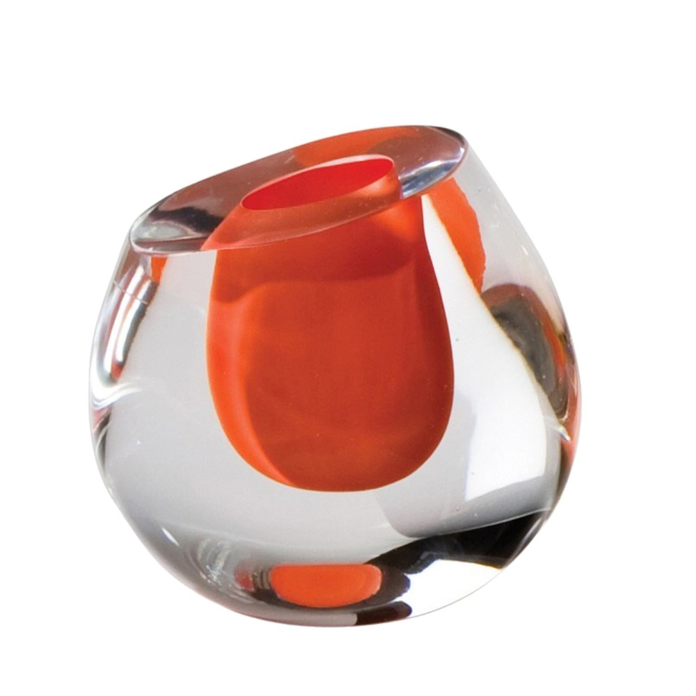 Global Views - Color Drop Vase, Mandarin