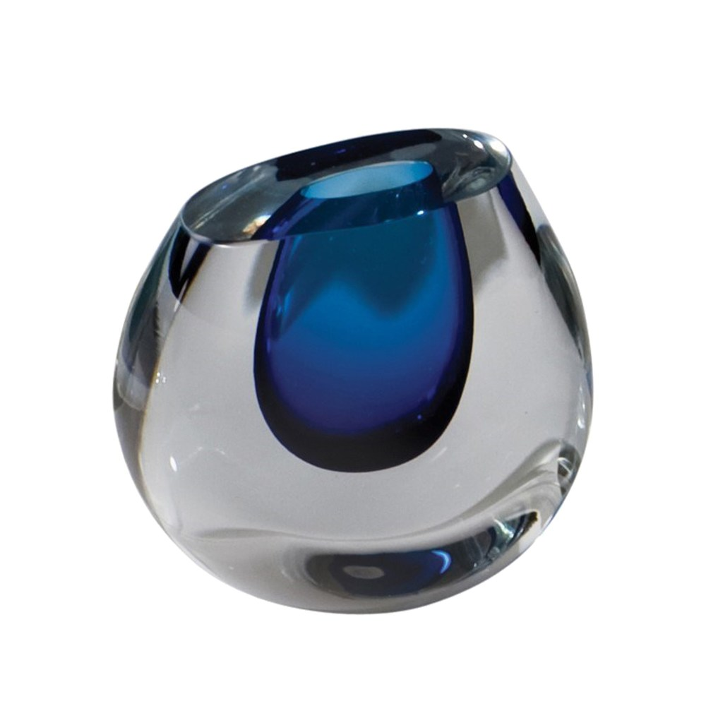 Global Views - Color Drop Vase, Blueberry