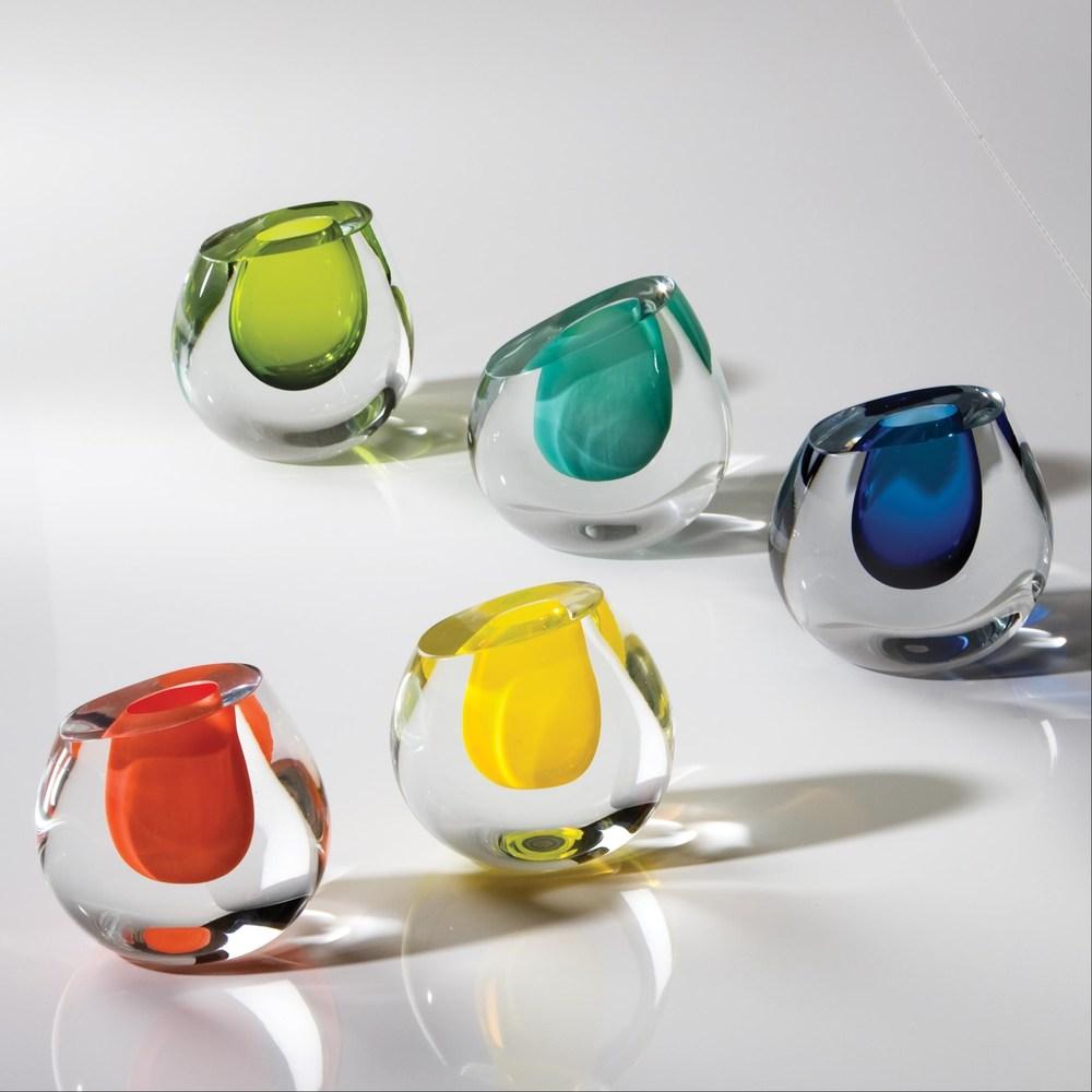 Global Views - Color Drop Vase, Aqua