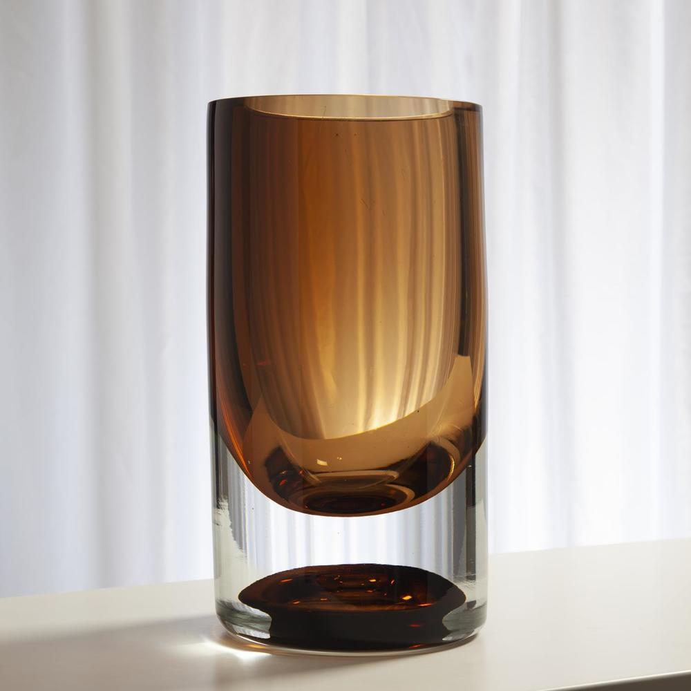 Global Views - Thick Cylinder Vase, Tobacco