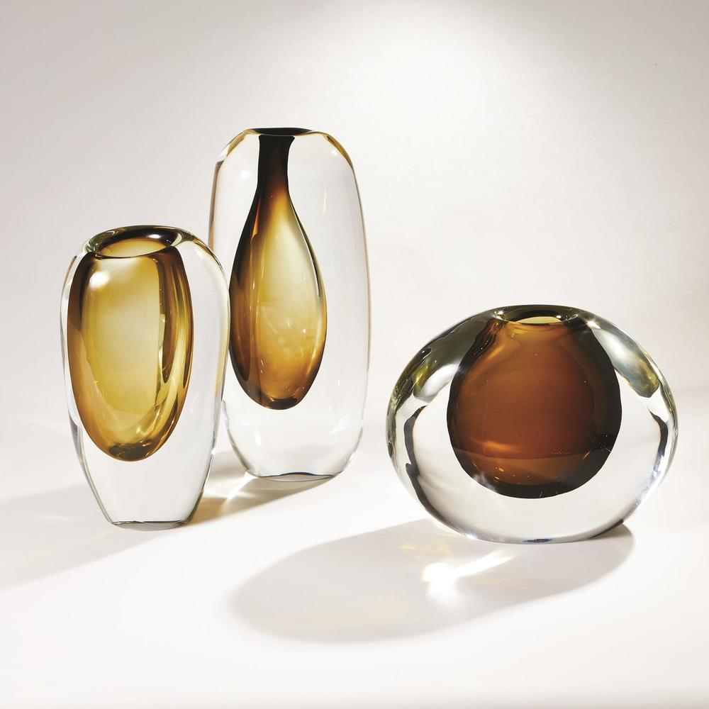 Global Views - Off Set Vase, Green