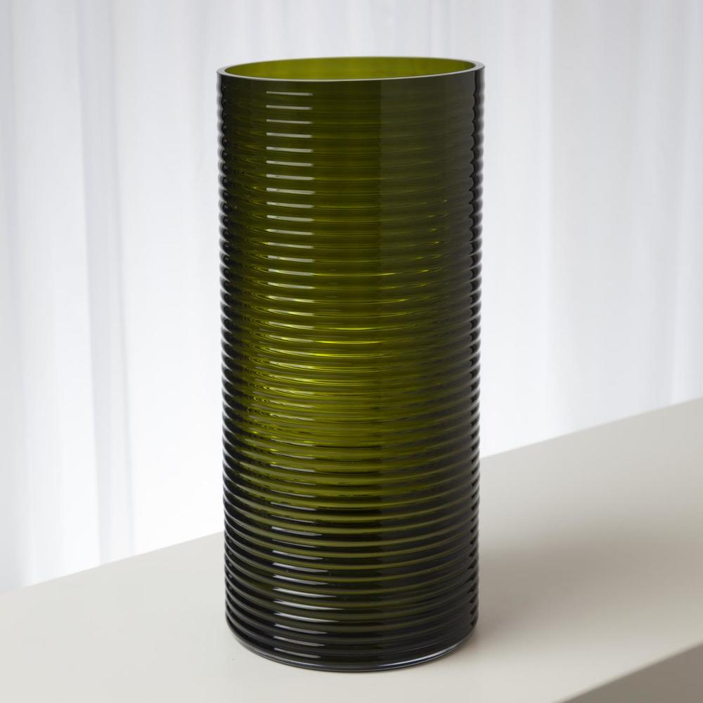 GLOBAL VIEWS - Ribbed Glass Vase