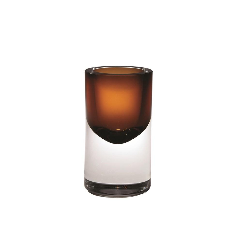 Global Views - Thick Cylinder Vase, Tobacco, Mini