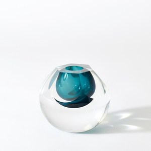 Thumbnail of Global Views - Hexagon Cut Glass Vase