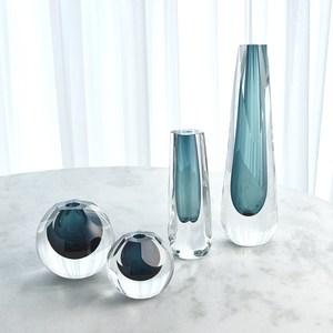 Thumbnail of Global Views - Pentagon Cut Glass Vase