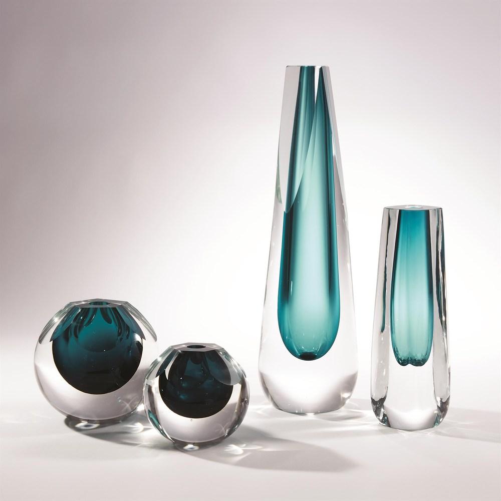 Global Views - Square Cut Glass Vase