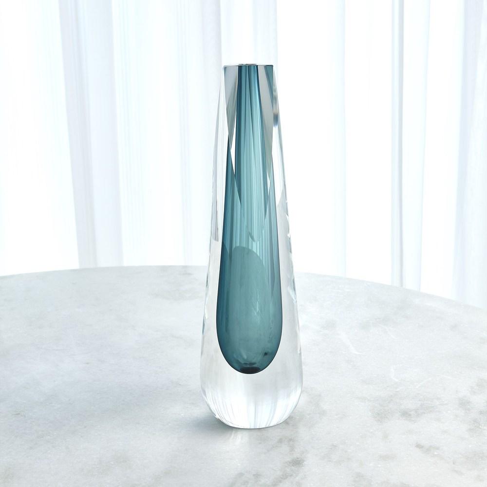 Global Views - Triangle Cut Glass Vase