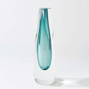Thumbnail of Global Views - Triangle Cut Glass Vase