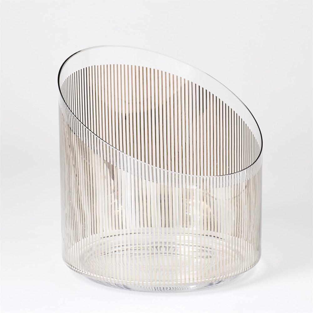 Global Views - Platinum Stripe Ice Bucket