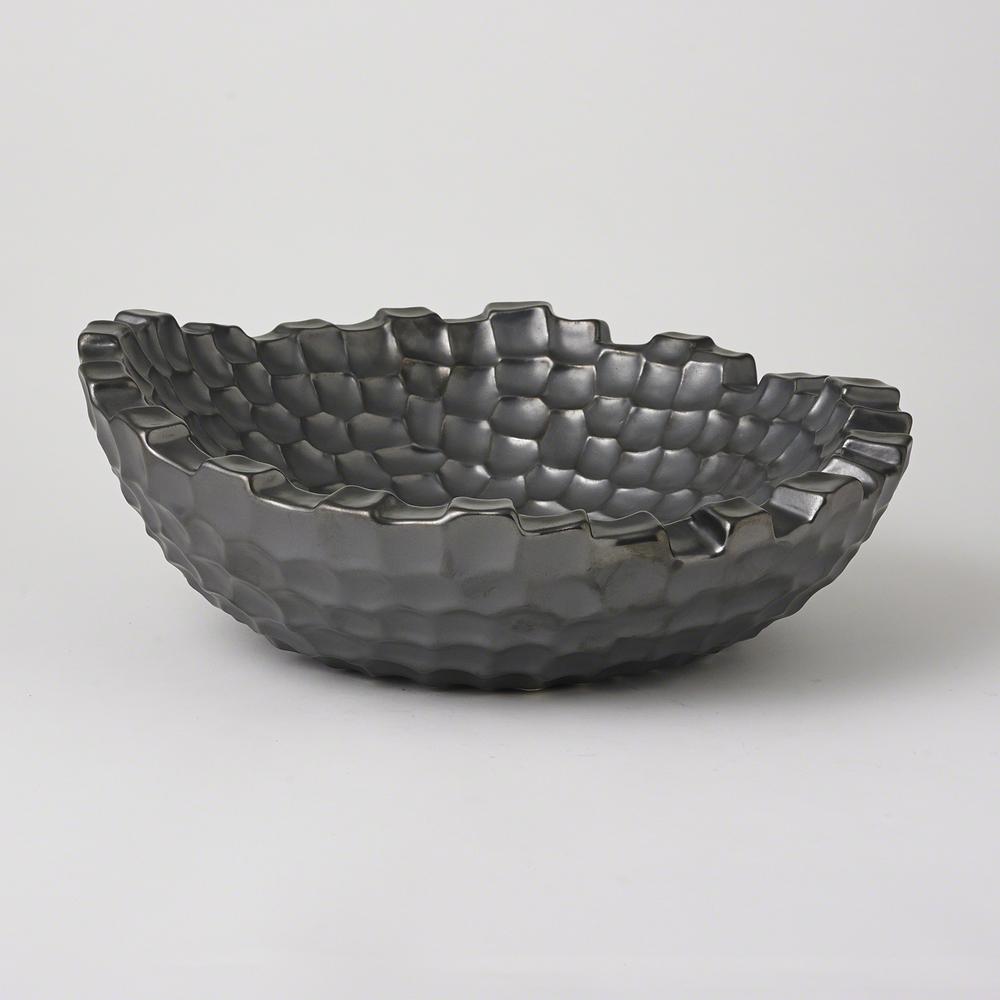 Global Views - Random Grid Bowl, Graphite