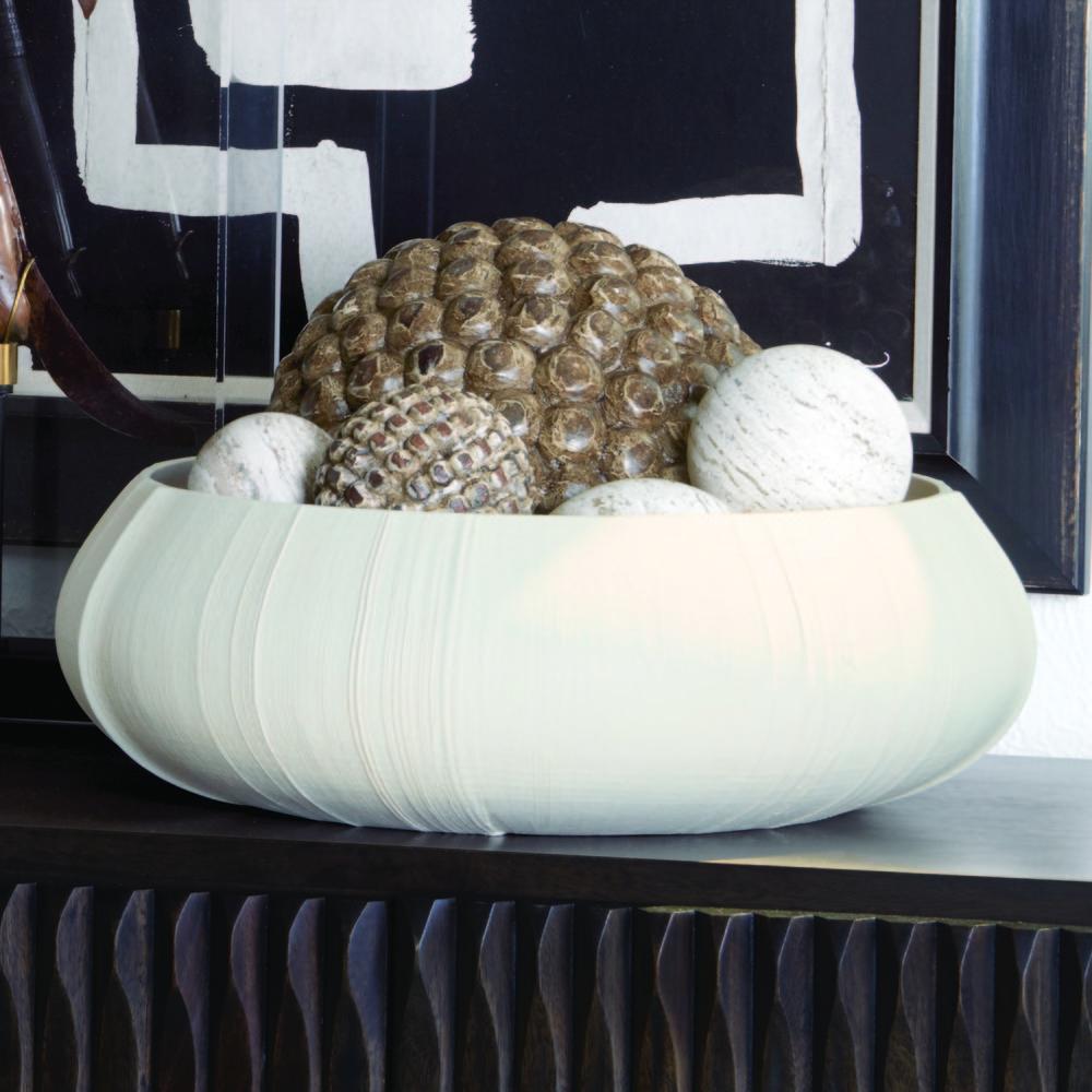 Global Views - Linen Centerpiece, Soft White