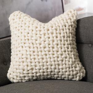 Thumbnail of Global Views - Noodle Felt Pillow, Bone