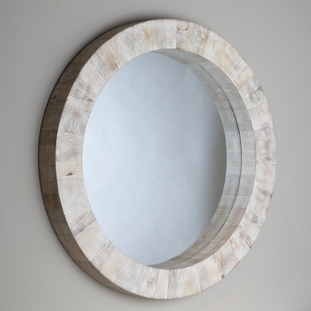 Global Views - Driftwood Round Mirror