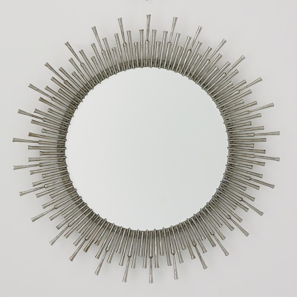 Global Views - Spike Mirror, Antique Nickel