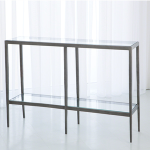 Thumbnail of Global Views - Laforge Console Table, Iron and Brass Braising