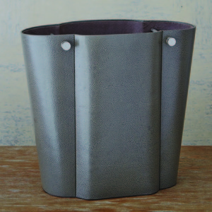 Thumbnail of Global Views - Serpentine Wastebasket, Gray Pebble