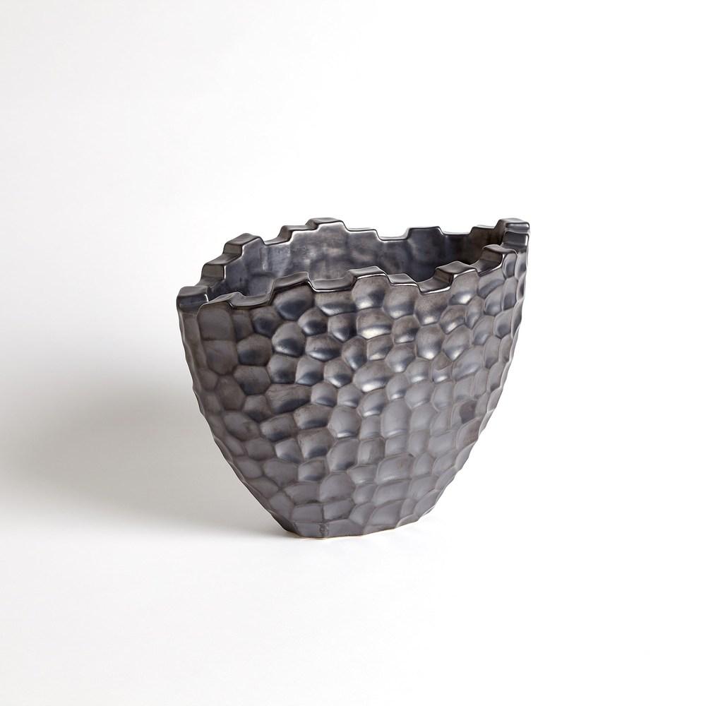 Global Views - Random Grid Vase, Graphite, Short