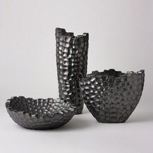 Thumbnail of Global Views - Random Grid Vase, Graphite, Short