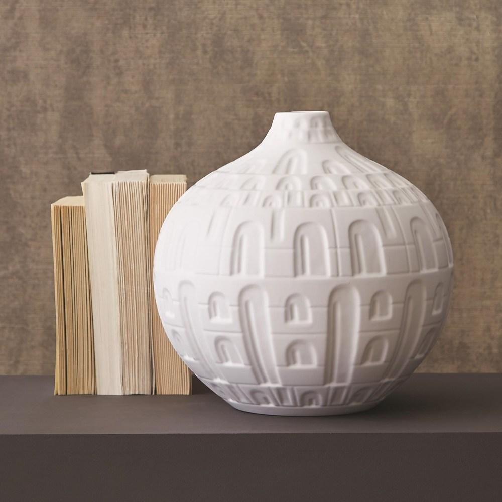Global Views - Small Coliseum Vase, Matte White