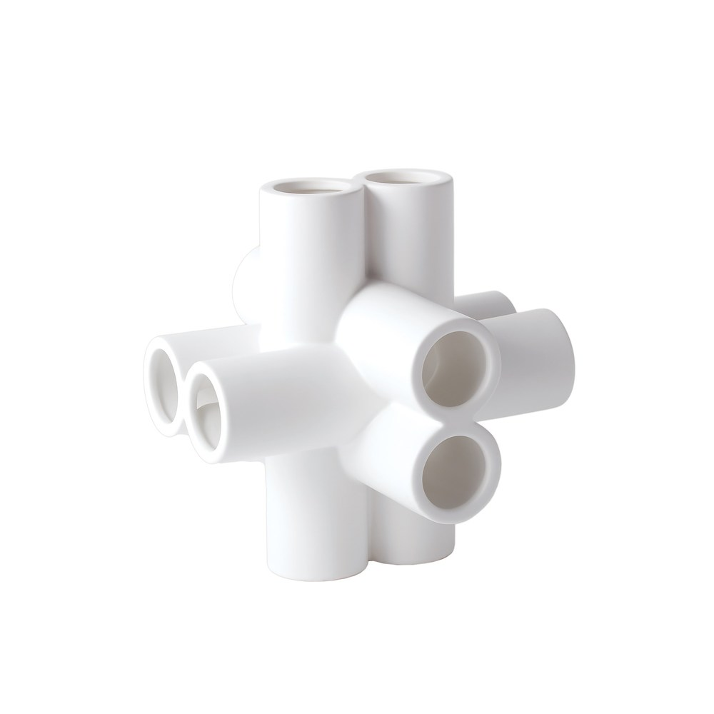 Cube Tube Sculpture Matte White Medium By Global Views Furnitureland South The World S Largest Furniture Store