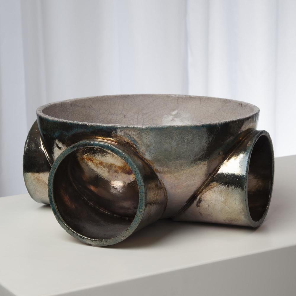 Global Views - Tube Bowl, Raku