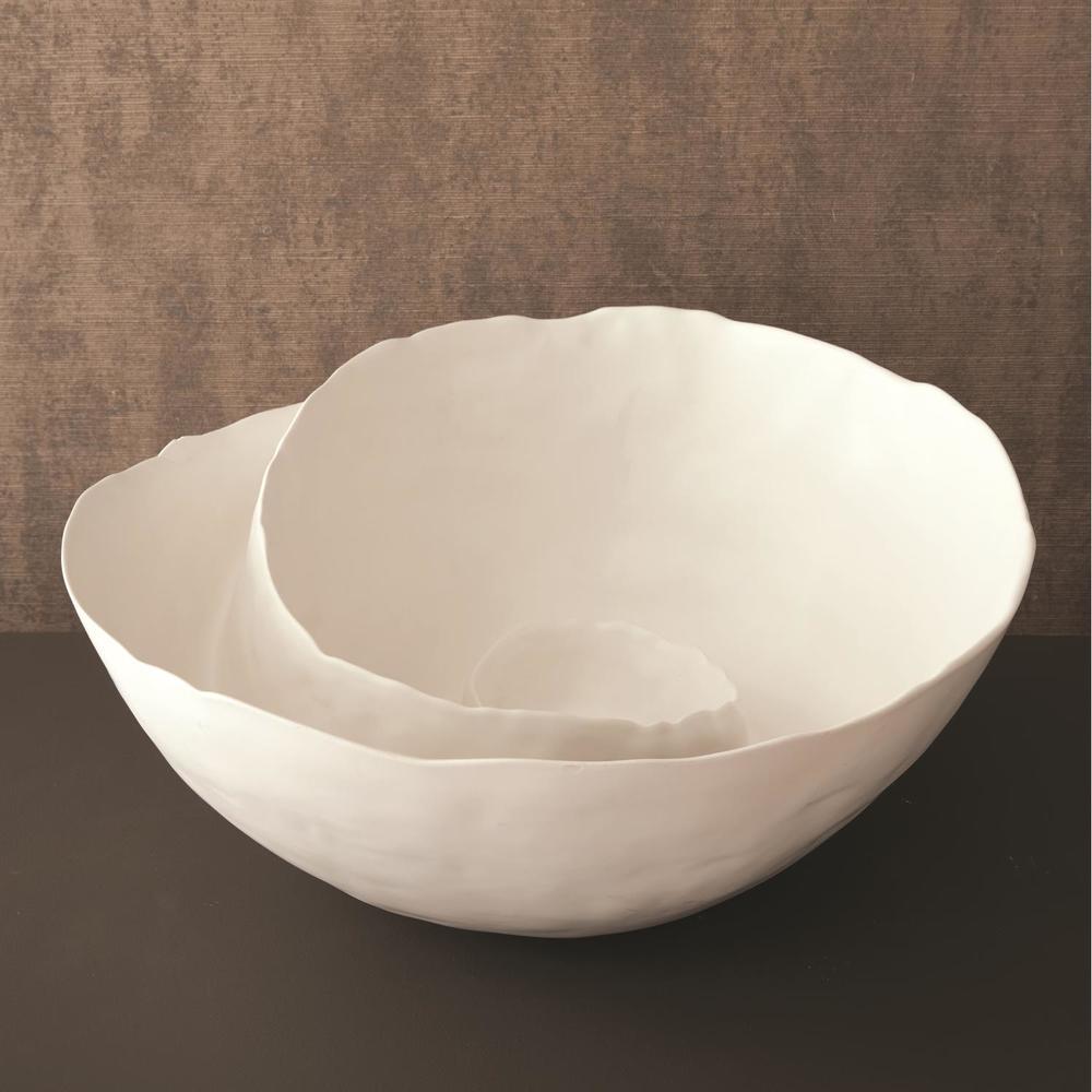 GLOBAL VIEWS - Spiral Bowl, Matte White