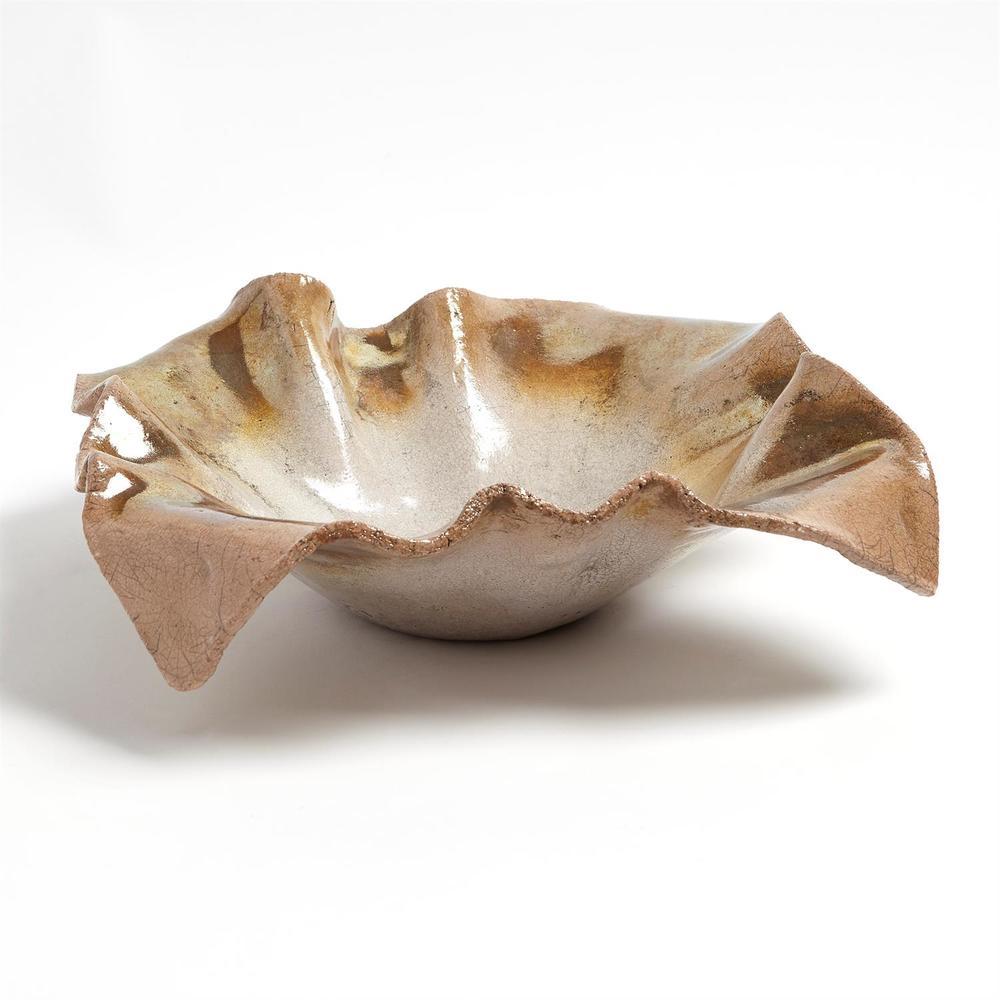 GLOBAL VIEWS - Folded Ripple Bowl, Raku