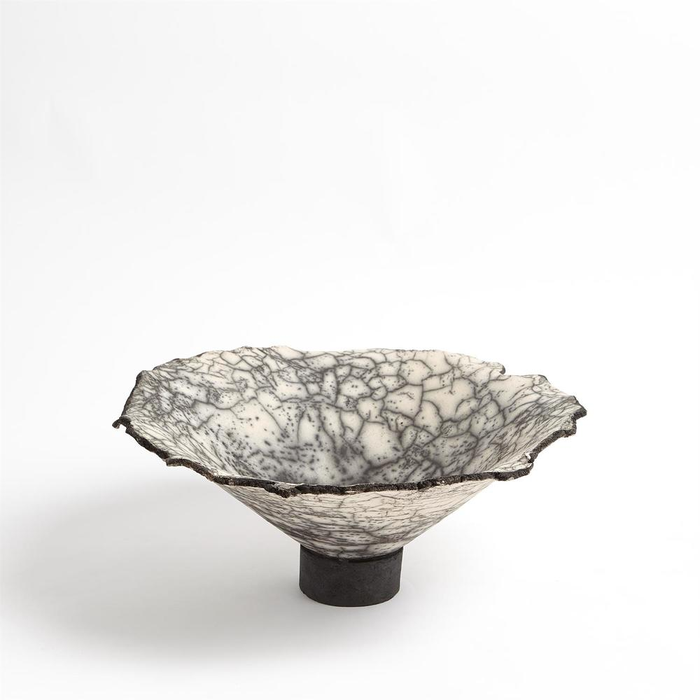 Global Views - Crackled Footed Bowl