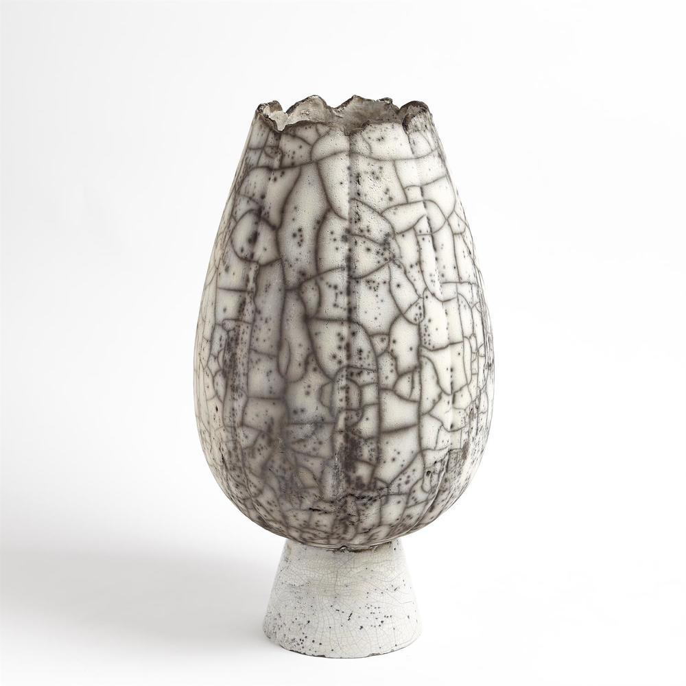 Global Views - Crackled Footed Vase, Large