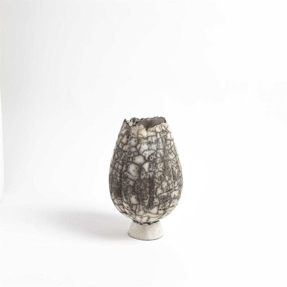 Global Views - Crackled Footed Vase, Small