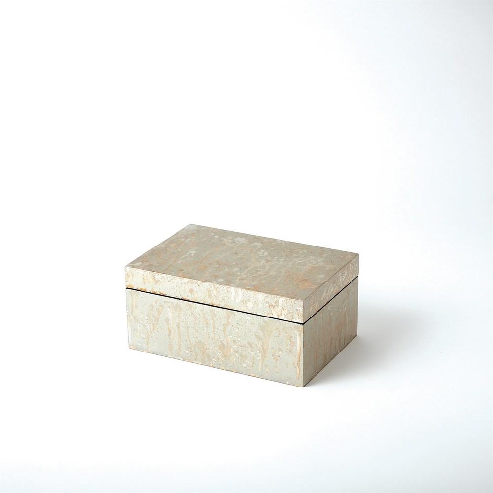 Global Views - Champagne Silver Leaf Box