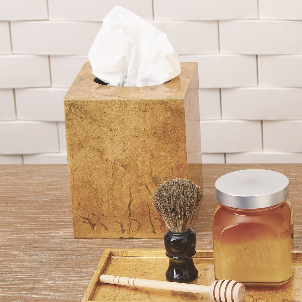 Global Views - Luxe Gold Leaf Tissue Box