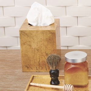 Thumbnail of Global Views - Luxe Gold Leaf Tissue Box