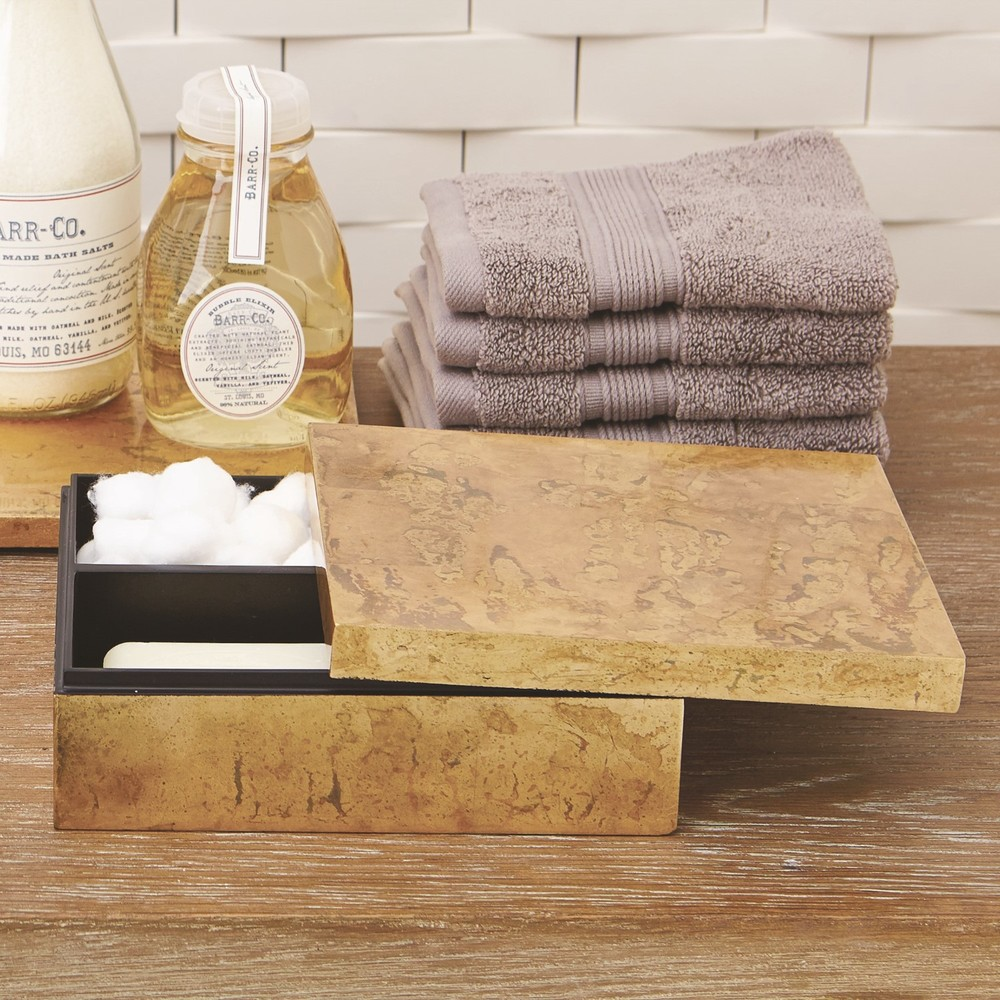 GLOBAL VIEWS - Luxe Gold Leaf Amenity Box