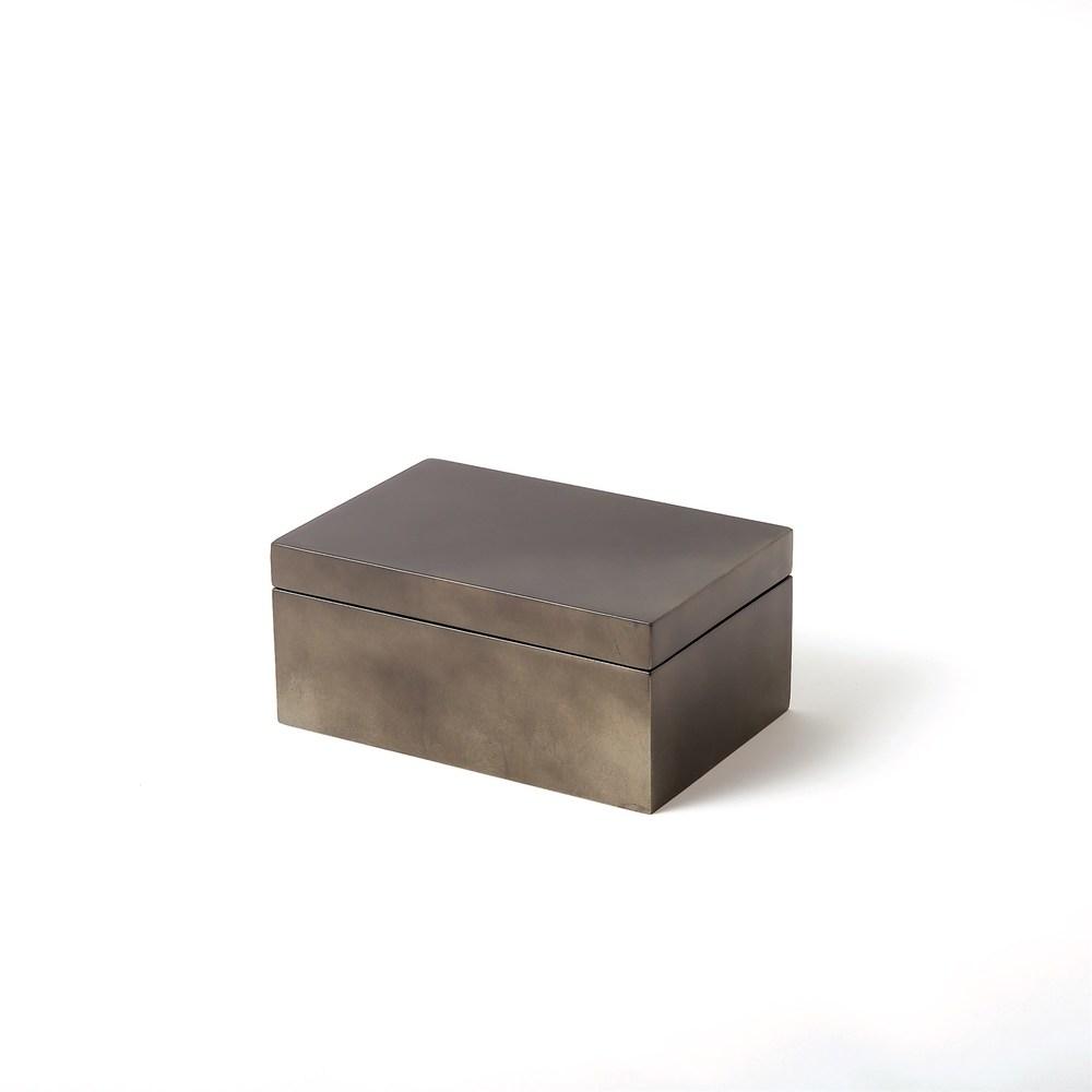 Global Views - Gunmetal Silver Leaf Box