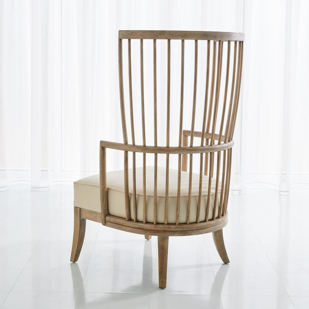Global Views - Spindle Wing Chair
