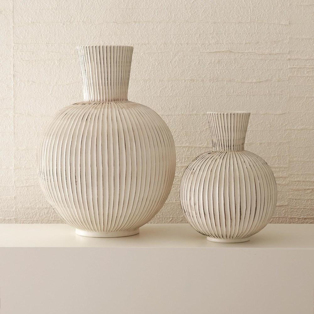 Global Views - Furrow Sphere Vase, Large
