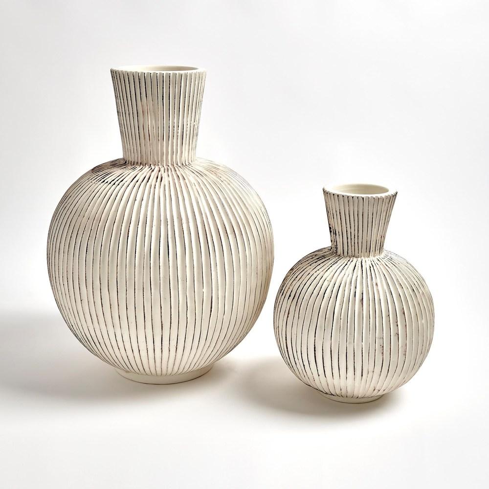 Global Views - Furrow Sphere Vase, Small