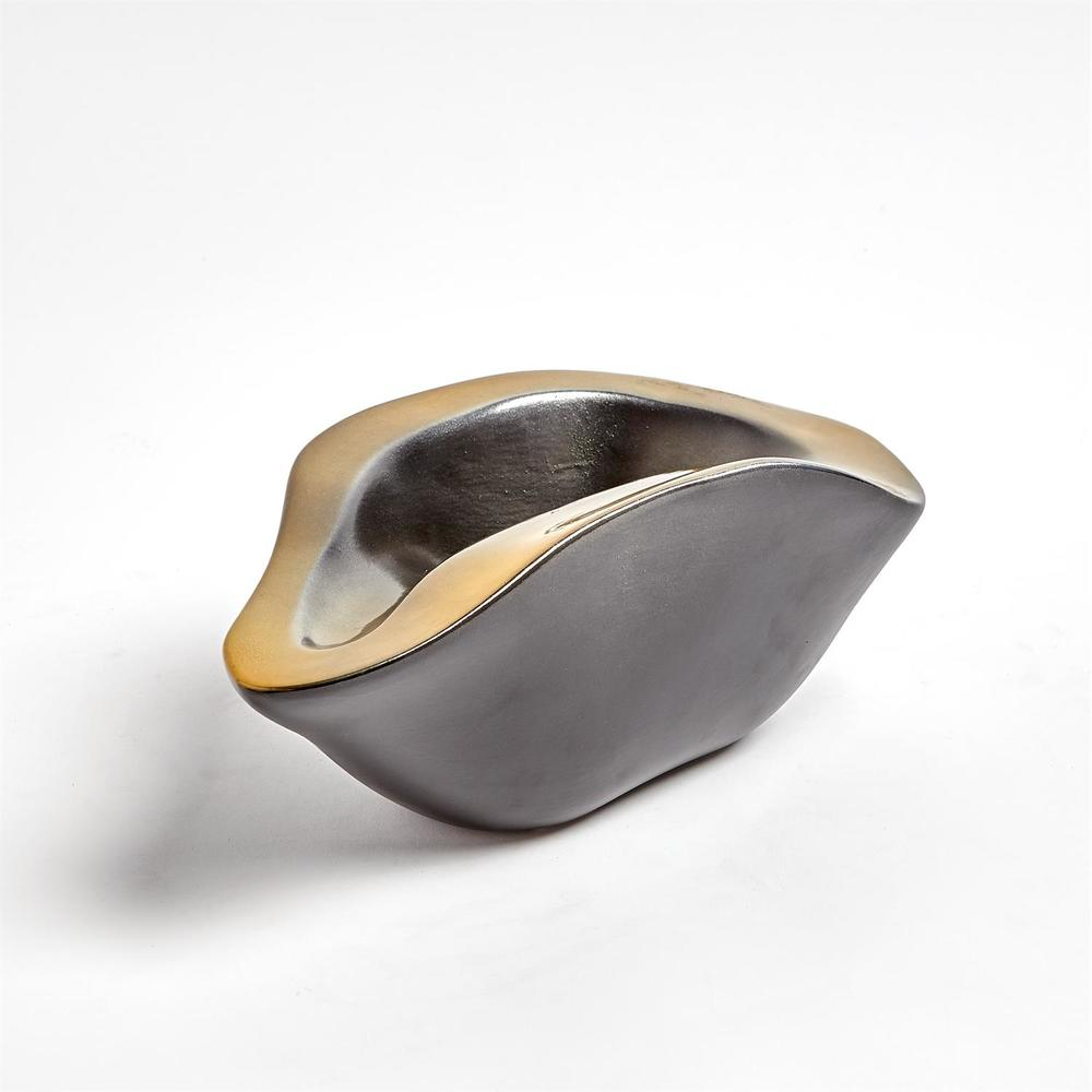 Global Views - Formation Bowl, Black/Gold, Small