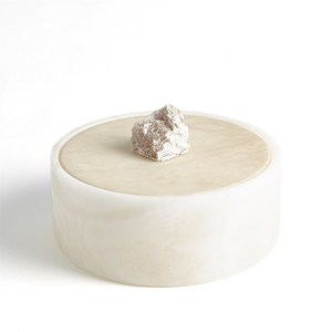 Thumbnail of Global Views - Alabaster Round Box with Rock Finial