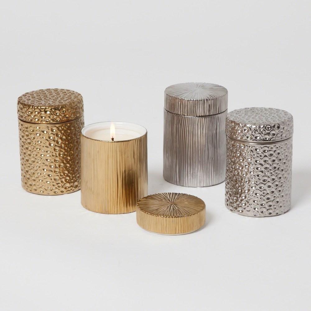 Global Views - Ocean Jar Candle, Sandalwood Teak, Gold