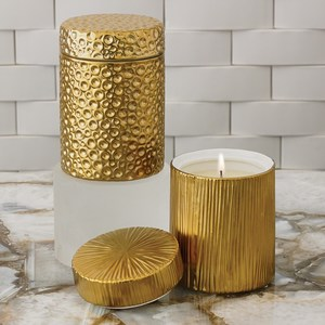 Thumbnail of Global Views - Ocean Jar Candle, Sandalwood Teak, Gold
