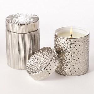 Thumbnail of Global Views - Moonscape Jar Candle, Sandalwood Teak/Silver