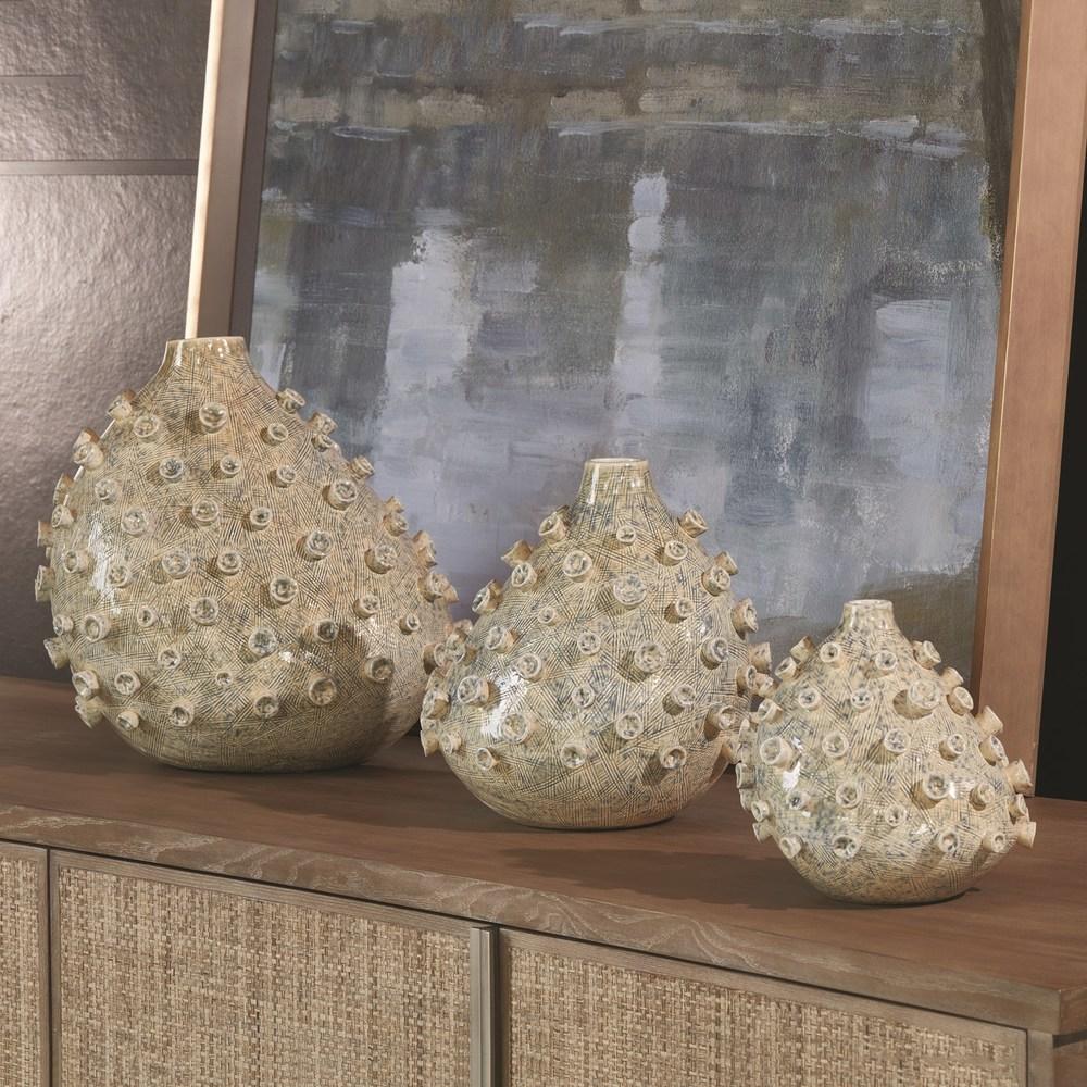 Global Views - Sea Coral Vase, Blue/Green, Small
